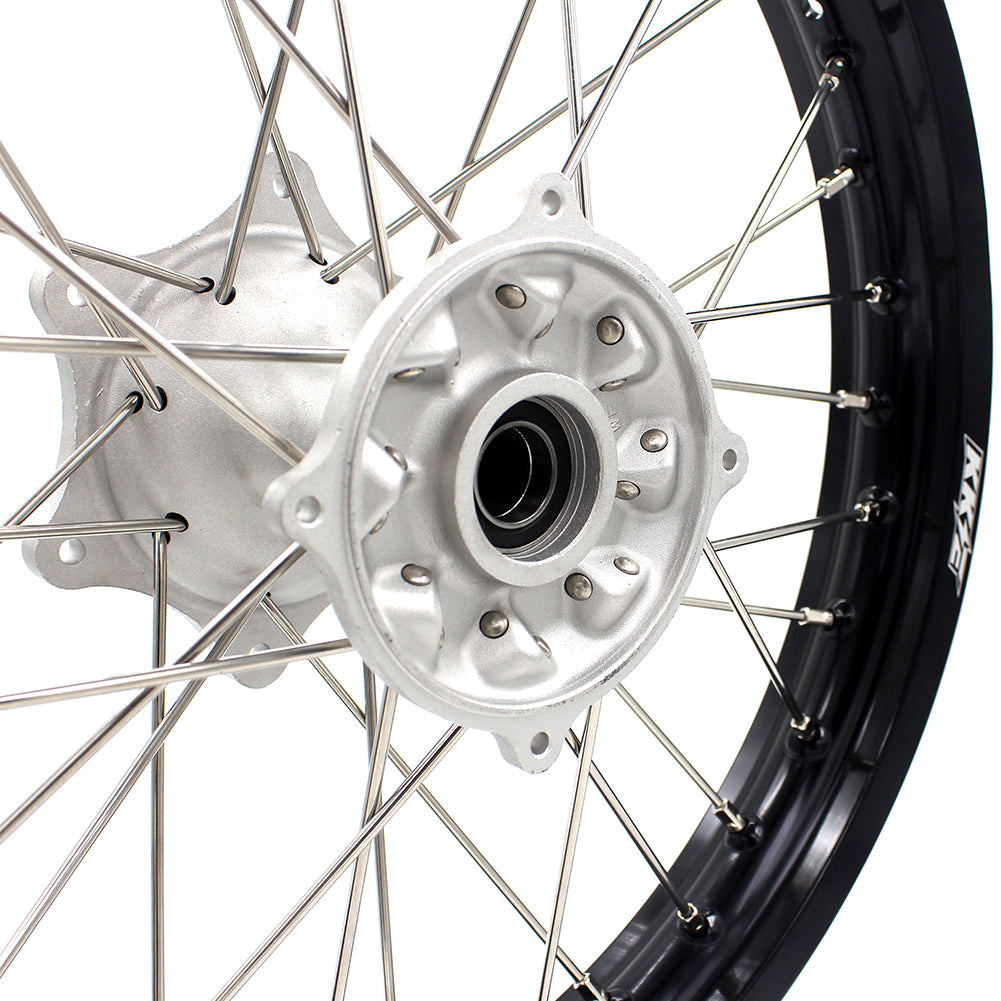 KKE 18 Inch Rear Casting Wheel Rim for Honda Crf250r 2014-2019 Crf450r 2013-2019 Silver Hub Black Rim