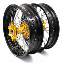 Load image into Gallery viewer, KKE 3.5 & 4.25 Supermoto Wheels for SUZUKI DRZ400SM 2005-2018 Gold Hub