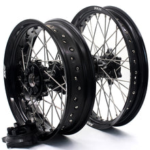 Load image into Gallery viewer, KKE 2.5*19 & 4.25*17 Cush Drive Supermoto Wheels for SUZUKI Dr650se 1996-2019 Black