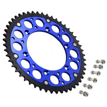 Load image into Gallery viewer, KKE BLUE 44T/48T/49T/50T/51T REAR BILLET SPROCKET FOR SUZUKI DRZ400 DRZ400E DRZ400S DRZ400SM - KKE Racing