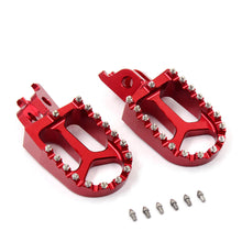 Load image into Gallery viewer, KKE CNC RED BLACK BLUE GREEN SILVER ALUMINUM FOOTPEGS FOR HONDA CRF250R CRF450R CRF450R CRF450X 02-19 CR125R CR250R 02-07 CRF150R 07-17 - KKE Racing