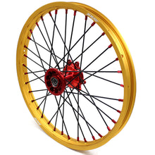 Load image into Gallery viewer, KKE 21/19 MX CASTING WHEELS SET FIT HONDA CR125R CR250R 2002-2013 GOLD RIMS - KKE Racing