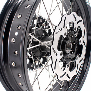 KKE 3.5 & 4.25 Wheels for Yamaha WR250F 2001 WR450F 2003-2018 Black