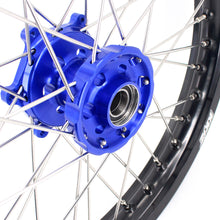 Load image into Gallery viewer, KKE 1.85*19 & 2.15*19 Spoked Flat Track Wheels Set for Yamaha YZ125 YZ250 YZ250F YZ450F Blue Black