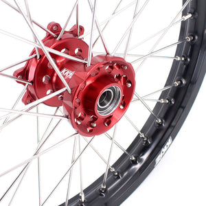 KKE Flat Track Wheels Rims for Honda CRF250R 2014 CRF450R 2013-2020 Red