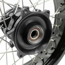 Load image into Gallery viewer, KKE 3.5 & 4.25 Cush Drive Supermoto Motard Wheels Set for Suzuki DR650SE 1996-2020 Black Hubs Rims