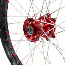 Load image into Gallery viewer, KKE MX/ENDURO DIRT BIKE WHEELS SET FIT HONDA CR125R CR250R 2002-2013 CRF250R 04-13 CRF450R 02-12 RED NIPPLE - KKE Racing