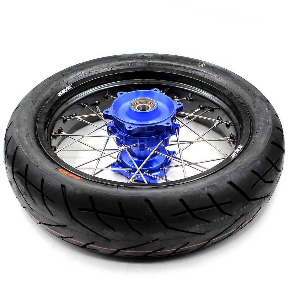 SUZUKI-DR650SE-SUPERMOTO -WHEELS-SET-CUSH-HUB