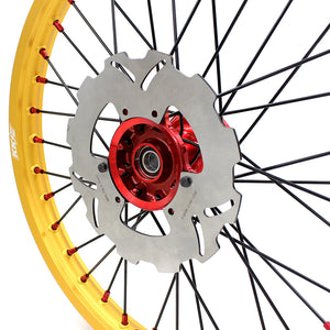 KKE 21 & 19 Casting MX Gold Wheels for HONDA CR125R 1996-1997 CR250R 1996
