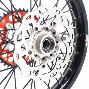 KKE CASTING WHEELS SET FIT KTM 125-530CC ALL MODEL 2003-2019 SILVER HUB & NIPPLE BLACK SPOKE - KKE Racing