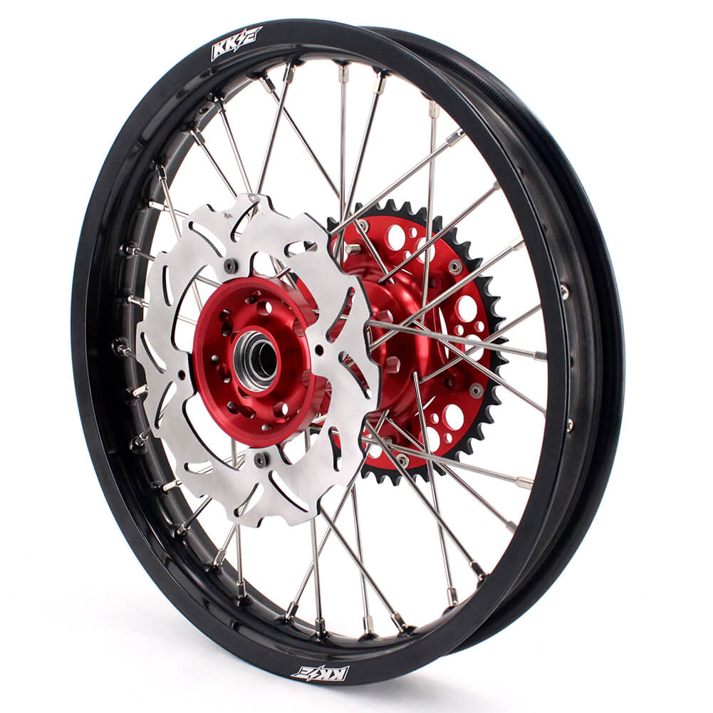 KKE 21 & 18 / 21 & 19 Wheels Rims Set for Honda CRF250R CRF 450 R 2015-2019 Red