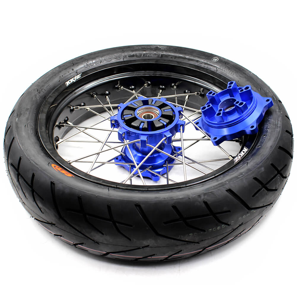 SUZUKI-DR650SE-SUPERMOTO -WHEELS-SET-CUSH-DRIVE-HUB