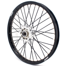 Load image into Gallery viewer, KKE CASTING WHEELS SET FIT KTM 125-530CC ALL MODEL 2003-2019 SILVER HUB & NIPPLE BLACK SPOKE - KKE Racing