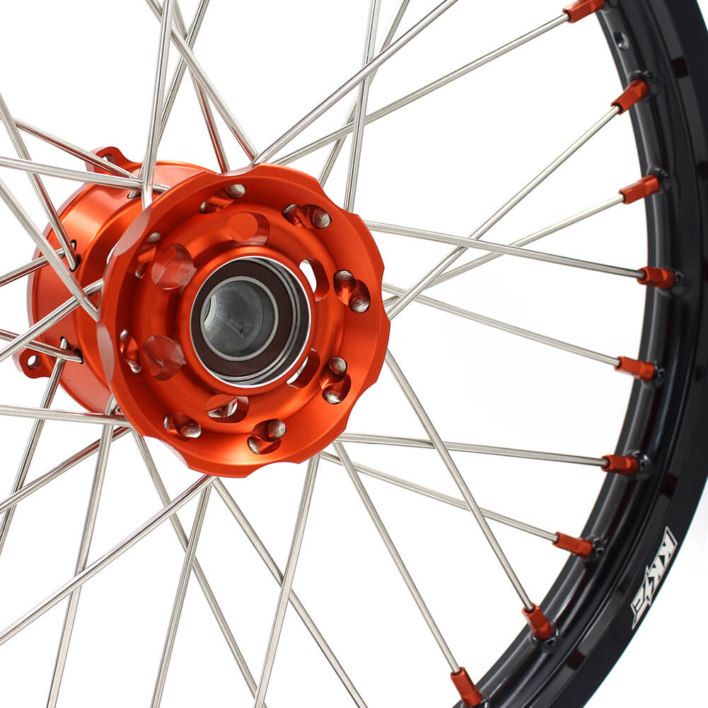 KKE 17/14 KID'S SMALL WHEELS RIMS SET FIT KTM85 SX 2003-2018 MINI BIKE ORANGE CNC HUB AND NIPPLE