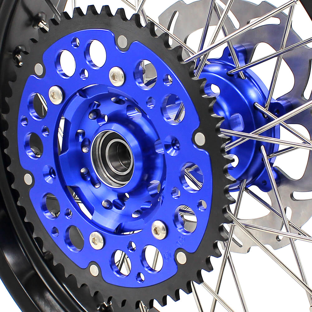 KKE DRZ400 DRZ400S DRZ400E DRZ400SM 3.5/4.25*17 SUPERMOTO WHEELS RIMS SET FIT SUZUKI BLUE CNC HUB - KKE Racing