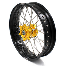 Load image into Gallery viewer, KKE RM125 1996-2007 RM250 1996-2008 3.5/4.25 SUPERMOTO WHEELS RIMS SET FIT SUZUKI GOLD CNC HUB - KKE Racing