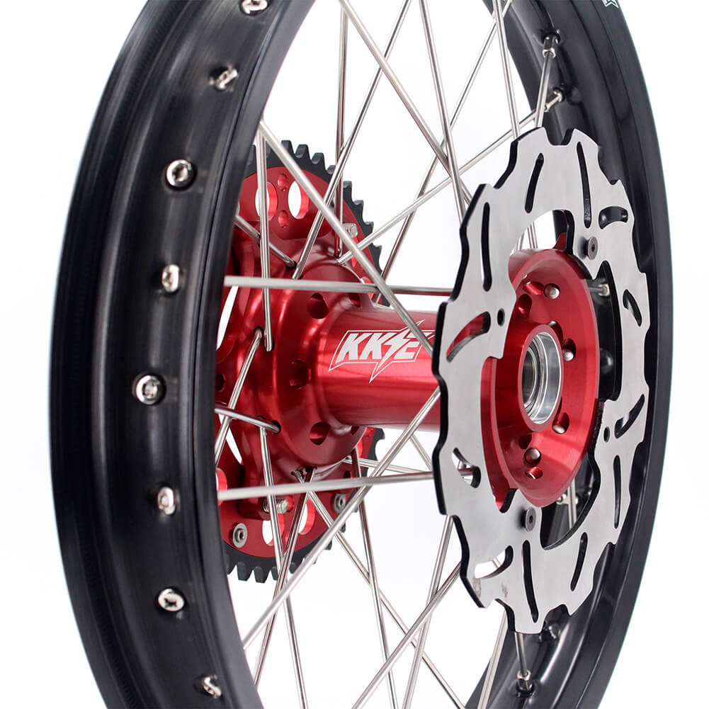 KKE 2.15*18 Complete Enduro Wheel Rim for Honda CR125R CR250R 02-13 CRF250R 04-13 CRF450R 02-12 Disc