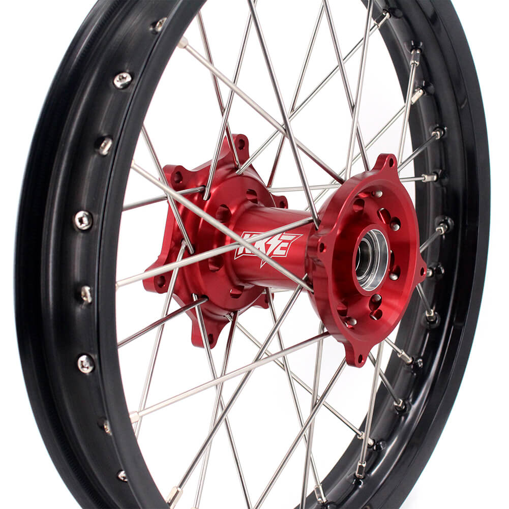 KKE 2.15*19 Rear Wheel Rim for Honda CRF250R 2004-2013 CRF450R 2002-2012 Red Anodized Hub