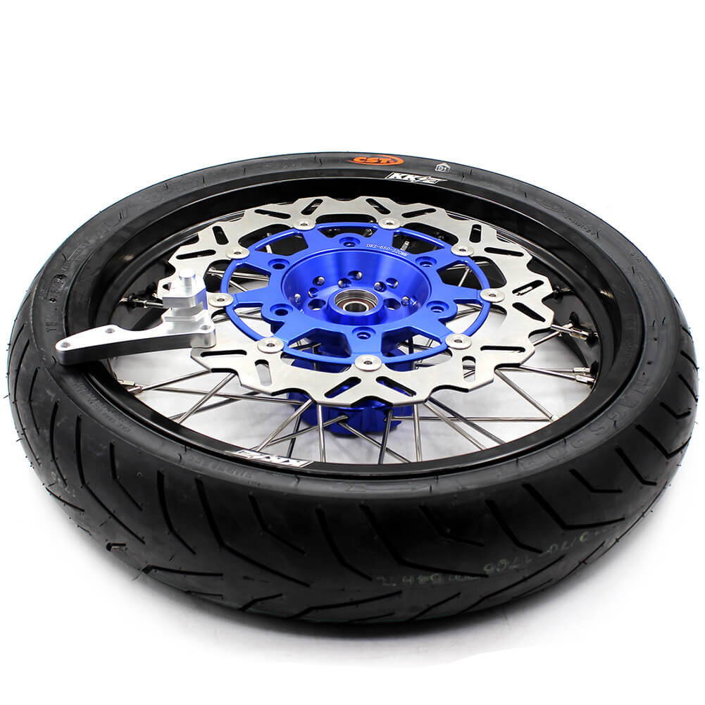 SUZUKI-DR650SE-SUPERMOTO -WHEELS-FRONT-WHEELS-SET-320MM-OVERSIZE-FLOATING-DISC