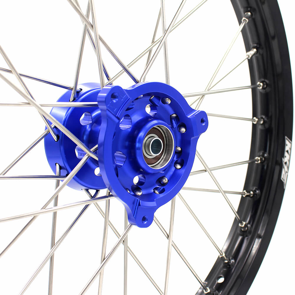 KKE 19/16 BIG KIDS WHEELS RIMS SET FIT YAMAHA YZ80 1990-2001 YZ85 2002-2018 BLUE CNC HUB - KKE Racing