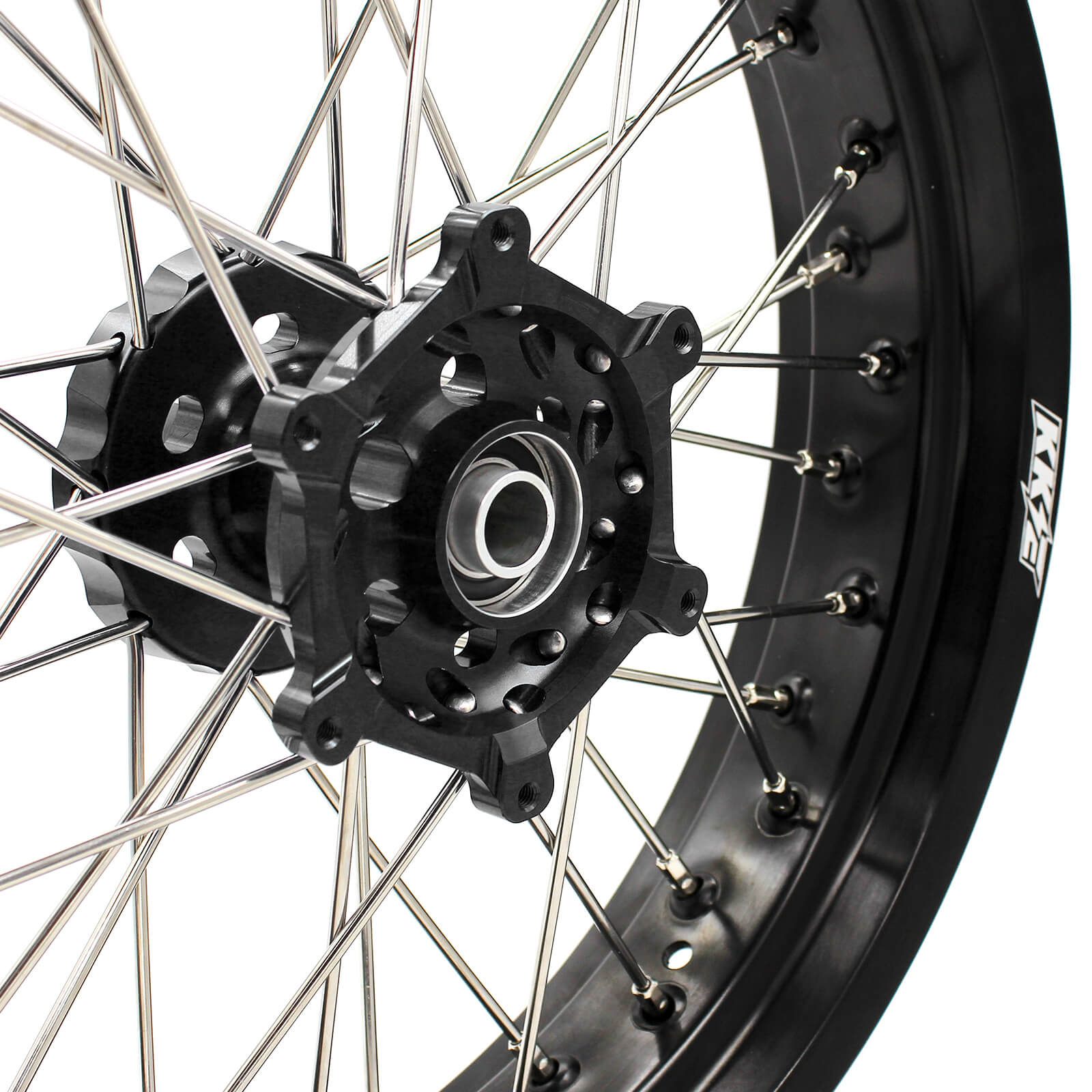 3.5/4.25 DRZ400 00-04 DRZ400E 00-07 DRZ400S 00-18 DRZ400SM 05-18 SUPERMOTO WHEELS SET FOR SUZUKI BLACK HUBS