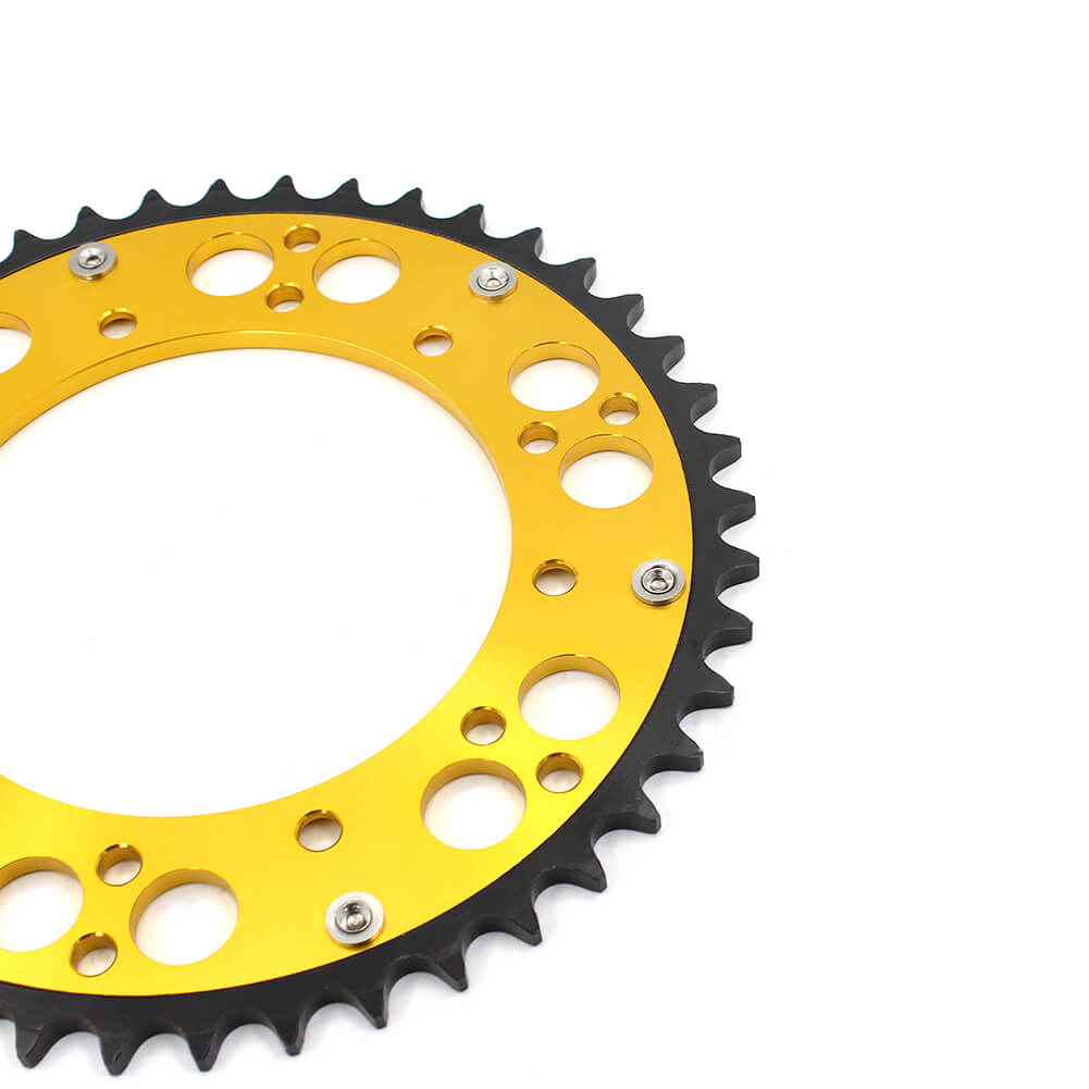 KKE 44T/48T/49T/50T/51T GOLD REAR HYBRID SPROCKET FOR SUZUKI RMZ250 RMZ450 RM125/250 DRZ400/400E/400S/400SM
