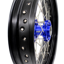 Load image into Gallery viewer, KKE 3.5/4.25 SPOKED SUPERMOTO WHEELS SET FOR KTM EXC EXCF XCW XCF SXF SX 125-530 03-19 - KKE Racing