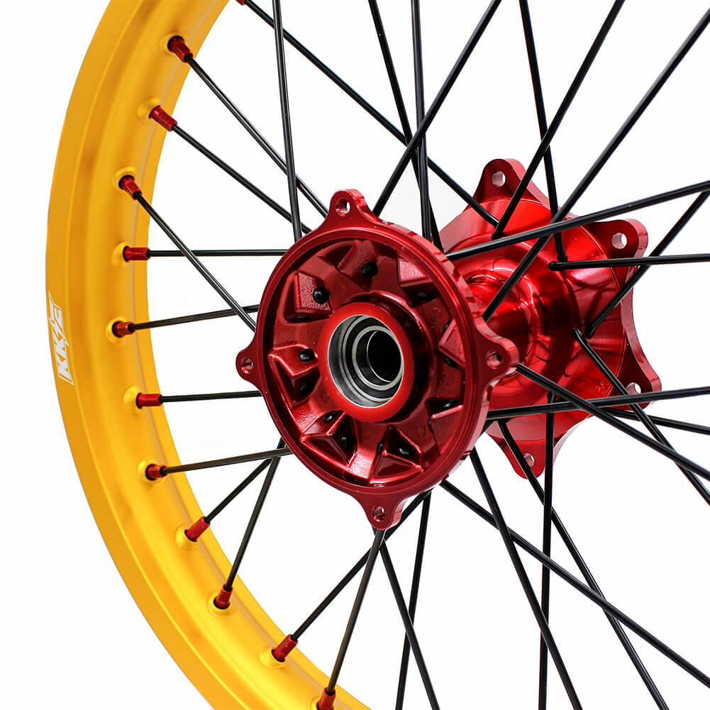 KKE 21/19 MX CASTING WHEELS SET FIT HONDA CR125R CR250R 2002-2013 GOLD RIMS - KKE Racing