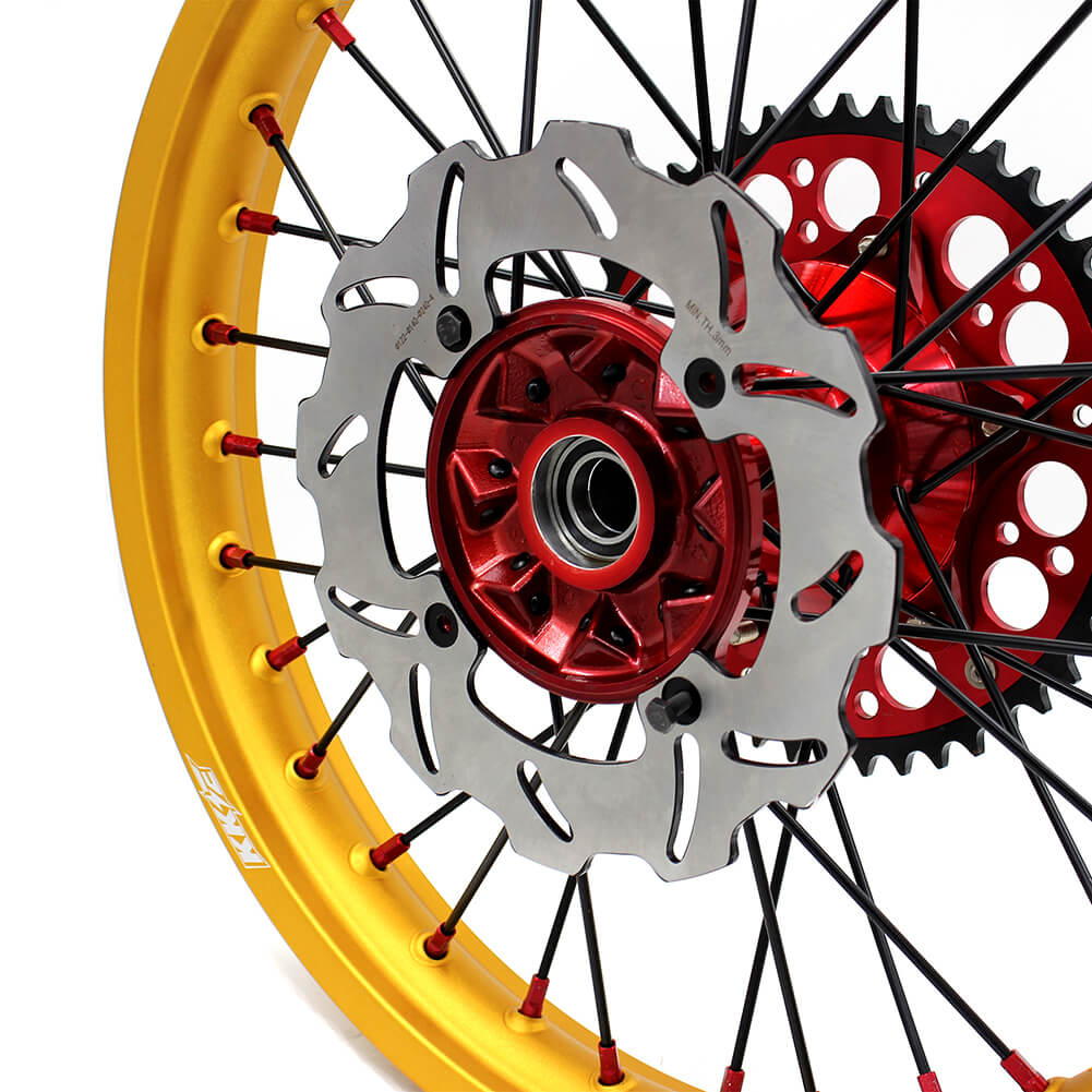 KKE CRF250R CRF450R 2015-2019 MX CASTING WHEELS RIMS SET FIT HONDA DRITBIKE FRONT 260MM BRAKE DISC