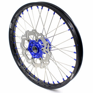KKE 21 18 Rims for Yamaha WR250F 2001-2016 WR450F 2003-2015 Blue Nipple