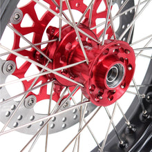 Load image into Gallery viewer, KKE 3.5/4.25 CUSH DRIVE SUPERMOTO WHEELS SET FOR HONDA XR650L 1993-2018 RED SPROCKET - KKE Racing