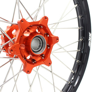 KKE 21/18 CUSH DRIVE WHEELS SET FIT KTM EXC EXCR EXCF 125-530CC 250 300 350 450 525 530 2003-2019 - KKE Racing