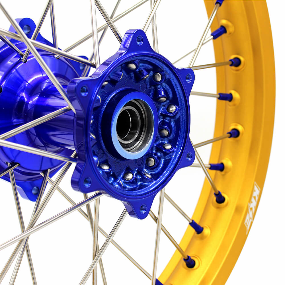 KKE CASTING MX/ENDURO WHEELS SET FIT YAMAHA YZ125 YZ250 YZ250F YZ450F GOLD RIMS - KKE Racing
