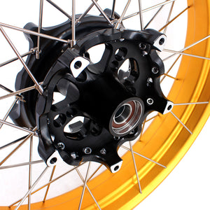 VMX 3.0*19 & 4.25*17 Tubeless Wheels for BMW F750GS 2019-2020 Gold Rims