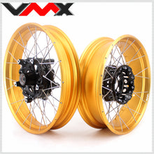 Load image into Gallery viewer, VMX 3.0 & 4.5 Inch Tubeless Wheels Set for BMW R1200GS R1200GS Adventure 2013-2019 Gold Rims