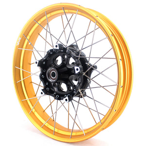 VMX 3.0 & 4.5 Inch Tubeless Wheels Set for BMW R1200GS R1200GS Adventure 2013-2019 Gold Rims