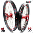 KKE 21 & 19 / 21 & 18 Wheels Set for Honda CRF250R 2004-2013 CRF450R 2002-2012 Red Nipple