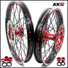 Load image into Gallery viewer, KKE 21 & 19 / 21 & 18 Wheels Set for Honda CRF250R 04-13 CRF450R 02-12 Red Black