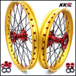 KKE 21 & 19 MX Cast Wheels Gold Rims for Honda CR125R CR250R 2002-2013