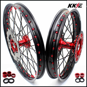 KKE 21 & 19 Casting Wheels for Honda CRF250R 2004-2013 CRF450R 2002-2012 Disc