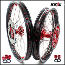 Load image into Gallery viewer, KKE 21 & 19 / 21 & 18 Wheels Set for Honda CRF250R 2004-2013 CRF450R 2002-2012 Red Nipple