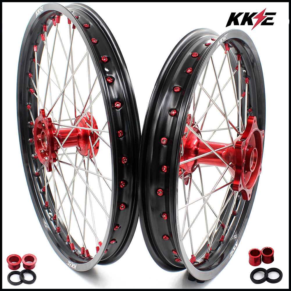 KKE 21 19 MX Cast Wheels fit HONDA CRF250R 2004-2013 CRF450R 2002-2012 Gold