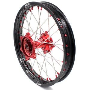 KKE 2.15*19 CASTING REAR WHEEL RIM FOR HONDA CRF250R 04-13 CRF450R 02-12 RED NIPPLE - KKE Racing