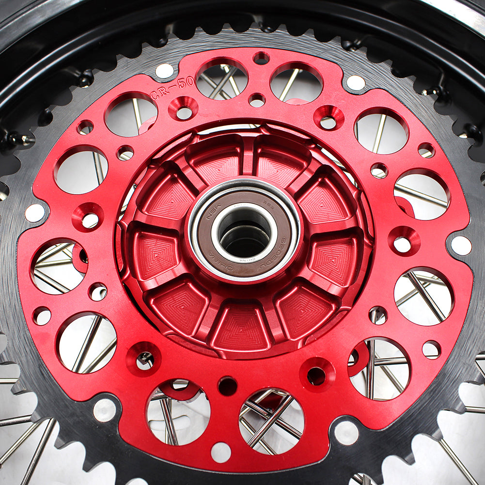 KKE CUSH DRIVE WHEELS SET WITH CST TIRES FOR HONDA XR650R 2000-2008 REAR 240MM DISC ROTOR - KKE Racing