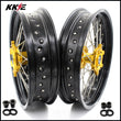 KKE 3.5 & 4.25 Supermoto Wheels for SUZUKI DRZ400SM 2005-2020 Gold Hub