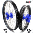KKE 21 & 18 Cush Drive Wheels Rims for Suzuki DRZ400SM 2005-2020 Blue Hubs