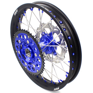 KKE 21 & 18 Inch Enduro Wheels Set for SUZUKI DRZ400SM 2005-2018 Blue Nipple Complete Rims - KKE Racing