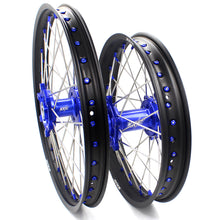 Load image into Gallery viewer, KKE 21 & 18 Inch Enduro Wheels Set for SUZUKI DRZ400SM 2005-2018 Blue Nipple Complete Rims - KKE Racing