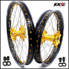 Load image into Gallery viewer, KKE 21 18 Inch Enduro Wheels for SUZUKI DRZ400SM 2005-2015 Gold Nipple