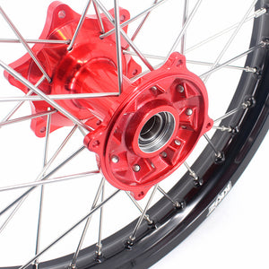KKE 21 & 18 Casting Enduro Wheels Rims for Honda CR125R CR250R 2000-2013 Red